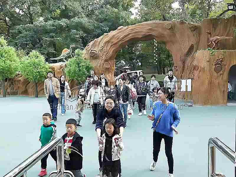 阳万泉公园恐龙科普馆项目的规划设计和建造施工